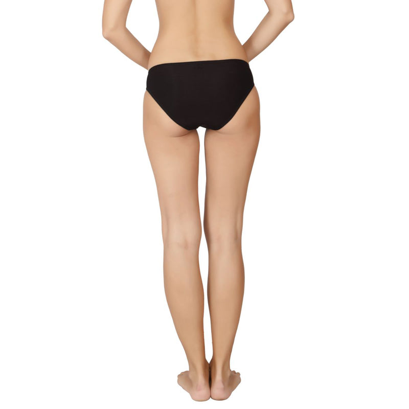 Bikini With Low Rise medium Coverage - Black