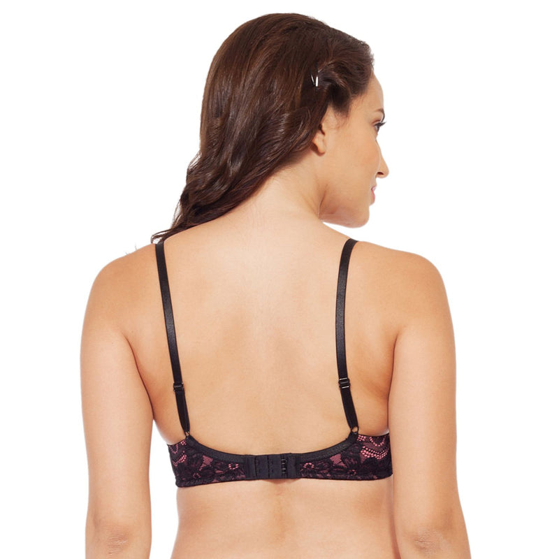 Medium Coverage Padded Non Wired Lace Bra - Nutmeg