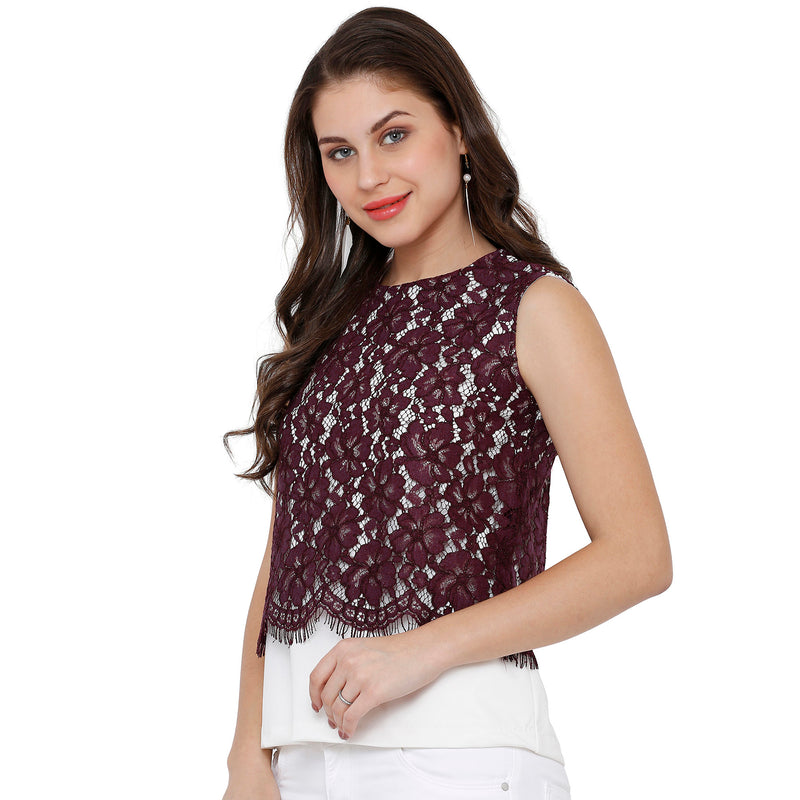 Lace Layered Top