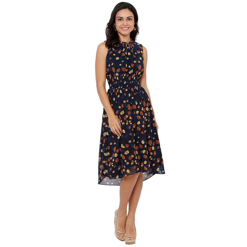Poppy Print High Low Dress