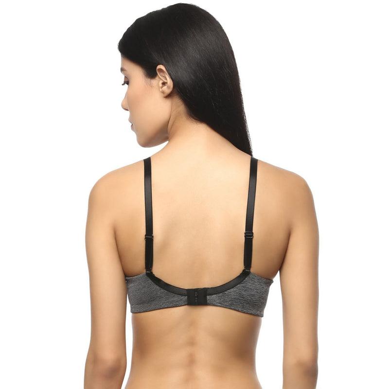 Medium Coverage Padded Wired T-shirt Bra - Anthra