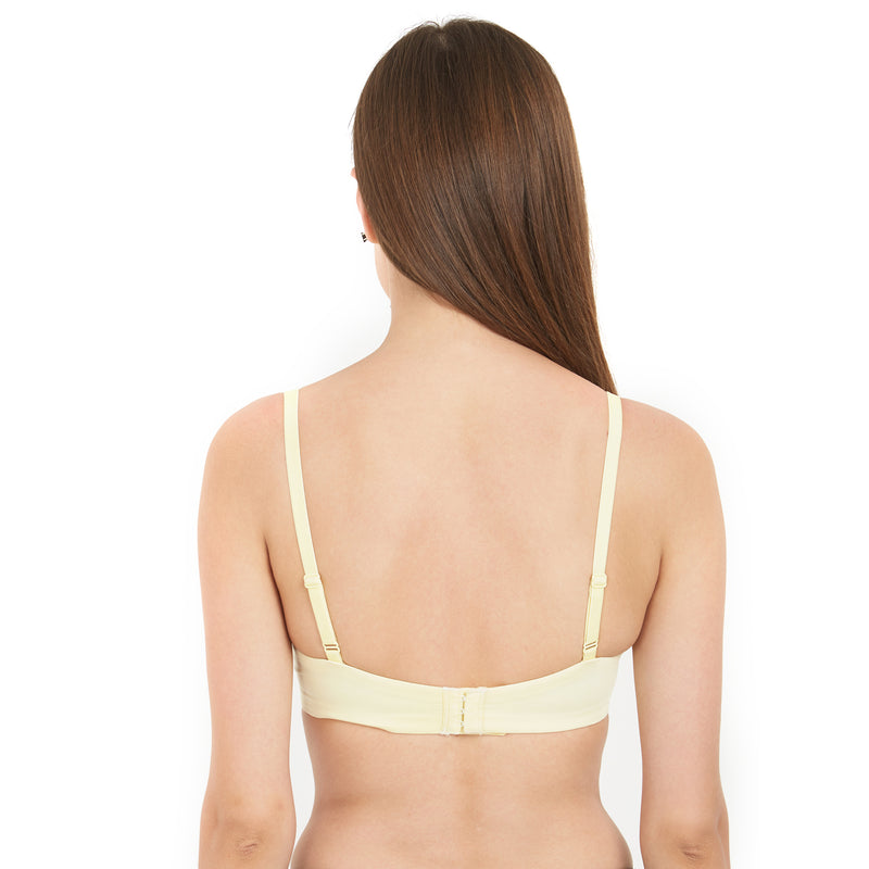 Full Coverage Padded Non-Wired Bra - Lemonade