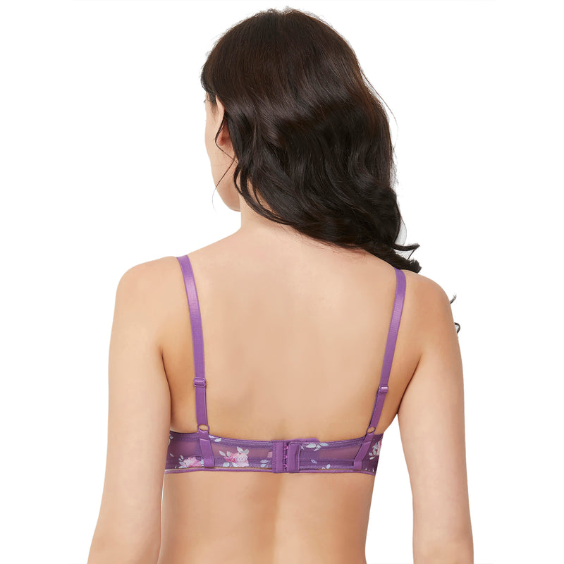 Padded Non Wired Medium Coverage Purple T-shirts Bra - Violet