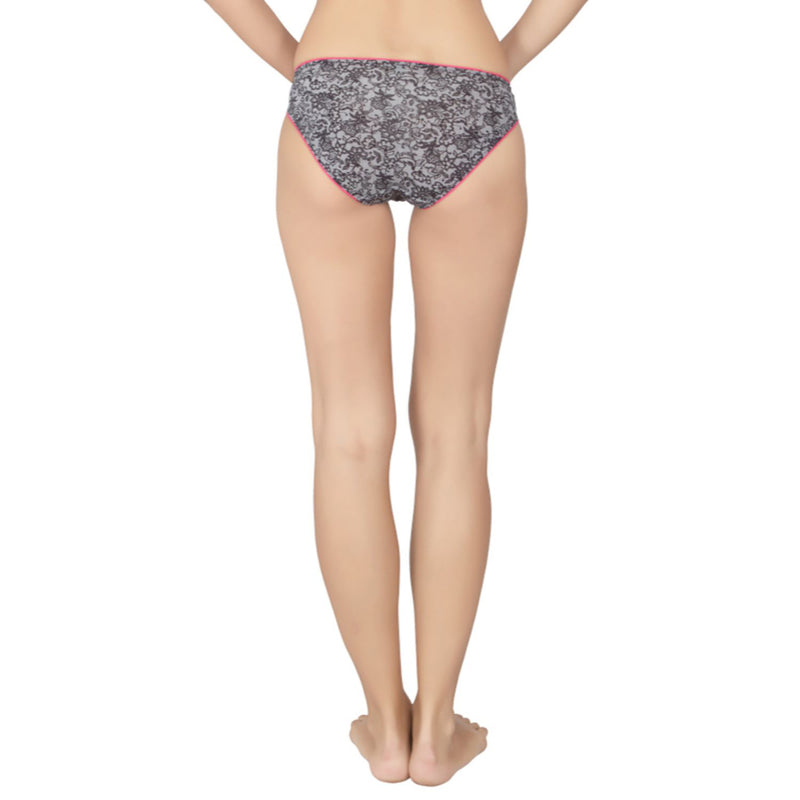Low Rise Printed Bikini - Lacy