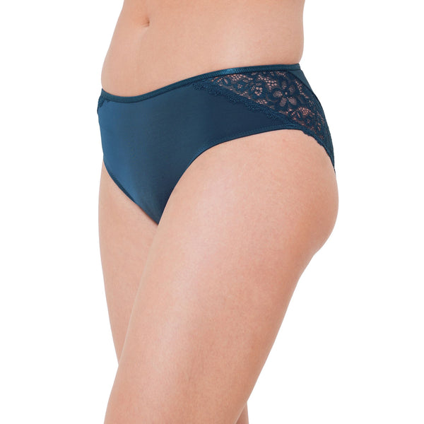 Blue Lacy Brief Panty