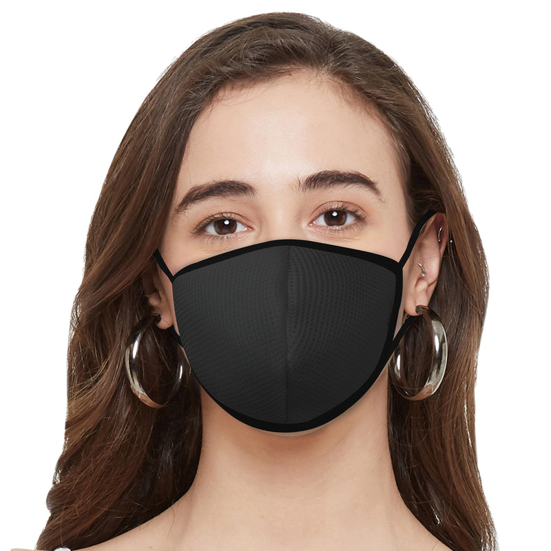 Triple Layer SN95 Reusable, Washable and Antimicrobial Mask - Pack of 5