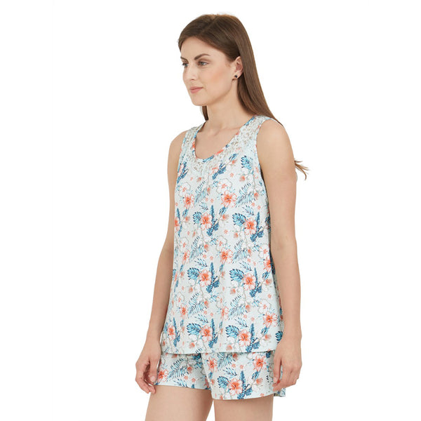 All-over Printed Top and Shorts set