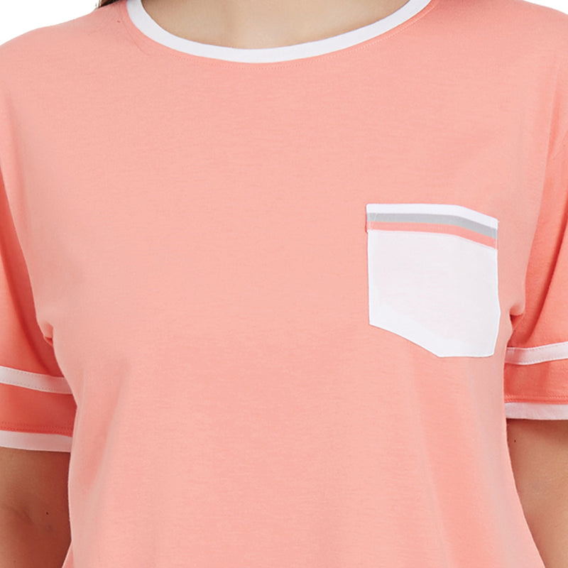 Half Sleeve Top with Pocket