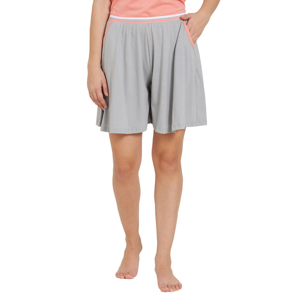 Flared Shorts with Pockets
