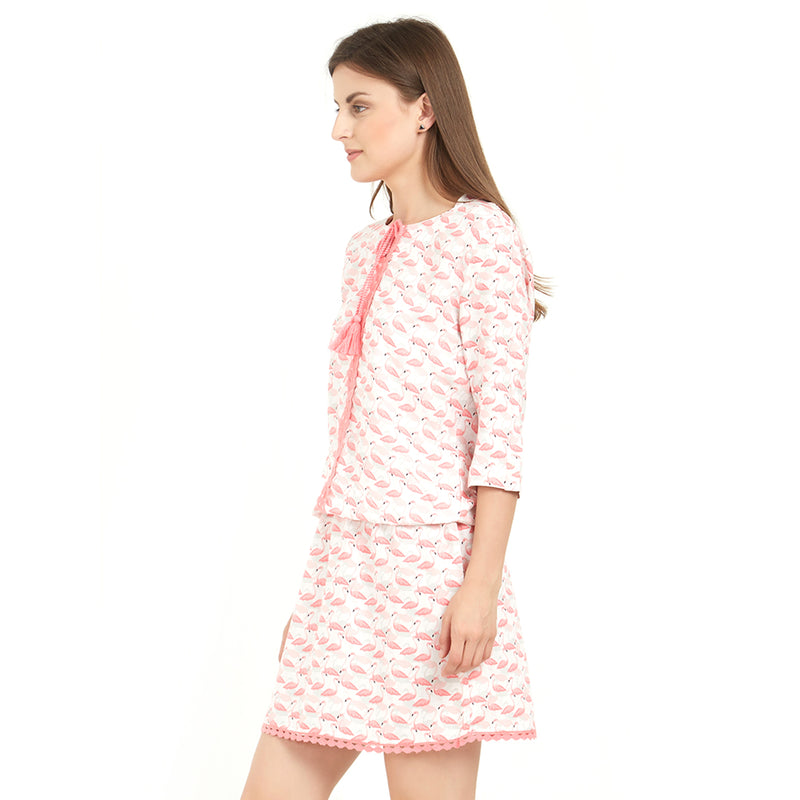 3/4th Sleeve Printed Sleepshirt
