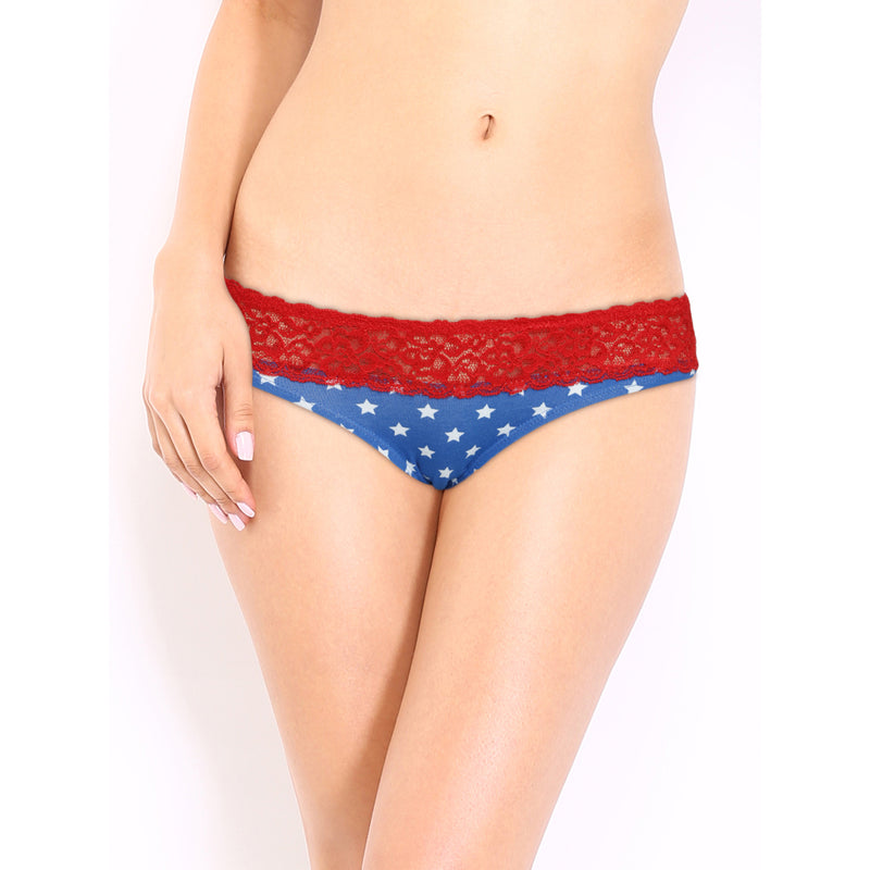 Wonder Woman Logo Printed Panty Pack of 2