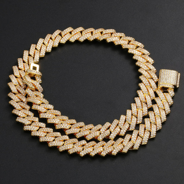 Iced Out 14mm Cuban Chain Choker