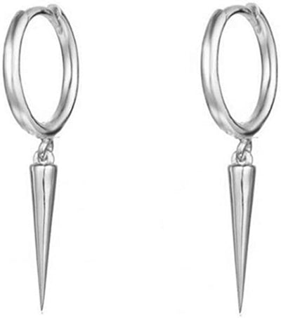 18K WHITE GOLD EDGY SPIKE EARRINGS