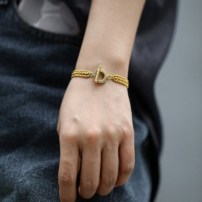Triple Strands Gold Bracelet