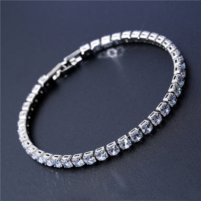 4mm CZ Iced Out Tennis Bracelet