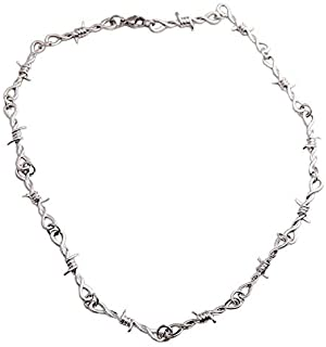 Silver Thorn Choker Necklace