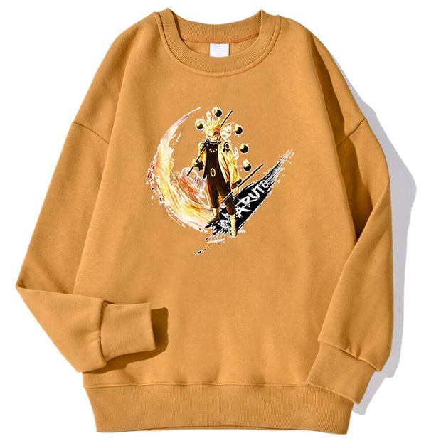 Anime Naruto Men's Hoodies Fashion Autumn Streetwear Anime Fleece Streetwears Crewneck Oversize Clothing Printing Loose Hoodys