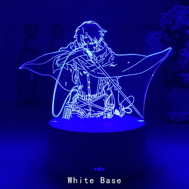 Attack On Titans LED Lamp Levi Ackerman 3D Anime Night Light Bedroom Decor Kid Lampe Home Decoration Lampara De Noche Dormitorio