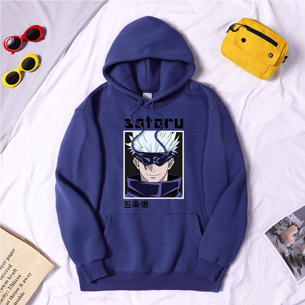Adventure Comics Mens Hoodies Jujutsu Kaisen Prints Pullover Men Retro Street Clothing Warm Oversized Man Hoodies Sweatshirts