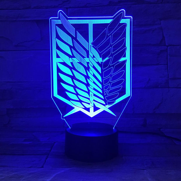 Cartoon Attack on Titan Night Light Led Logo Children Kids Boys Gift Manga Japanese Anime Bedroom Desk Lamp Shingeki no Kyojin