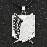 Attack On Titan Necklace Wings of Liberty Freedom Scout Regiment Legion Survey Recon Corp Badge Pendant Fashion Anime Wholesale