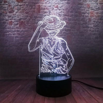 Lamp Led  3d Manga One Piece Monkey D. Luffy