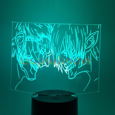 Attack on Titan Eren 3D Novelty LED Nightlight Shingeki no Kyojin Home Decor Table Lamp 3D Visual 7 color Night Light 3D47