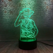 3D Illusion LED NightLight Colorful Touch Flash Light Desk Model Japan Manga One Piece Monkey D. Luffy Anime Figure Toys