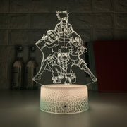 Lampe 3D Naruto - Equipe 7