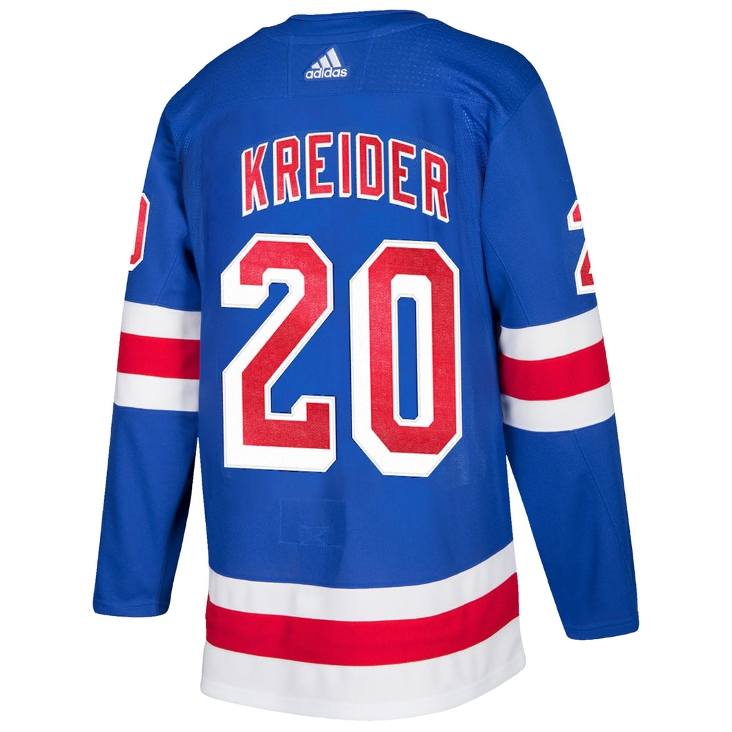 adidas Authentic Rangers Royal Home Player Jersey Kreider #20