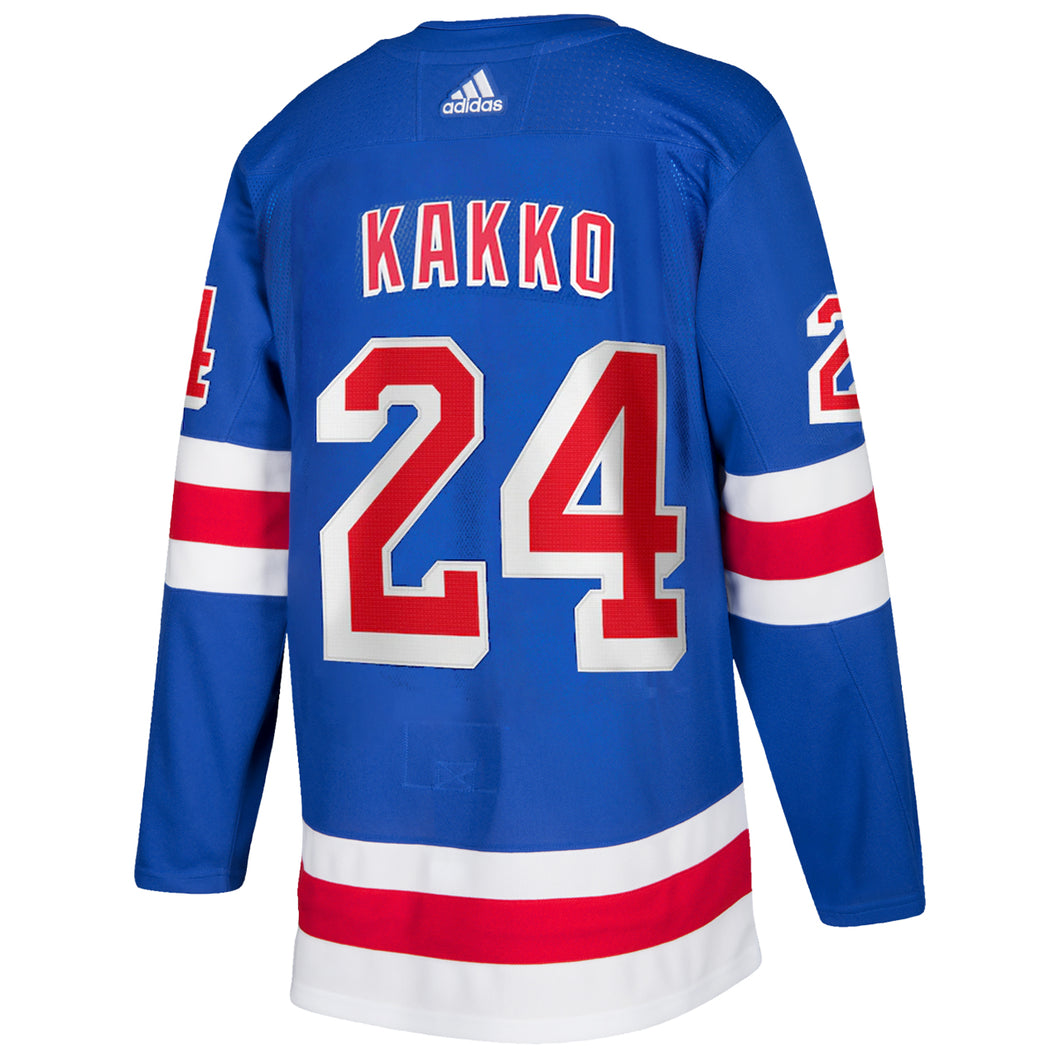 adidas Authentic Rangers Royal Home Player Jersey Kakko #24