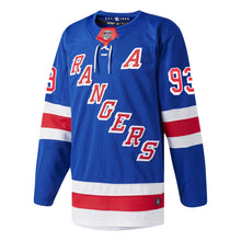 Load image into Gallery viewer, Adidas Authentic Rangers Royal Home Player Jersey Zibanejad #93