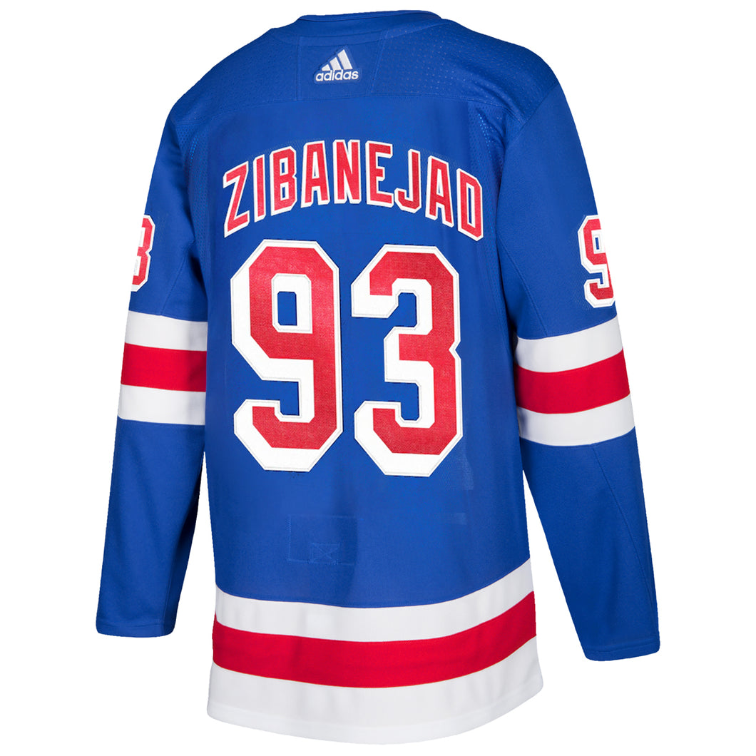 Adidas Authentic Rangers Royal Home Player Jersey Zibanejad #93