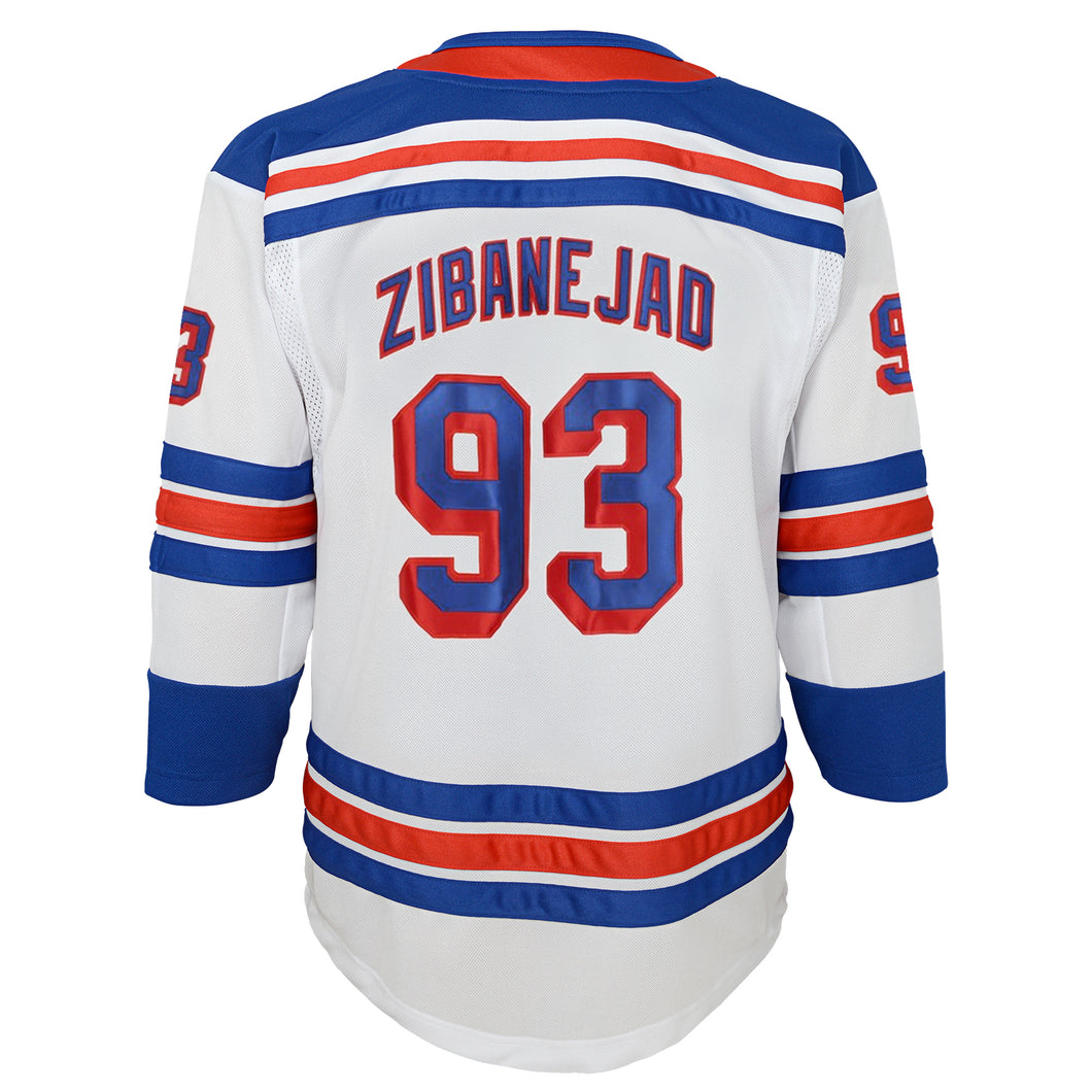 Rangers Premier Youth White Road Jersey Zibanejad #93