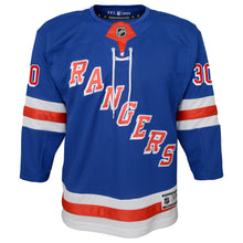 Load image into Gallery viewer, Rangers Premier Youth Royal Home Jersey Lundqvist #30