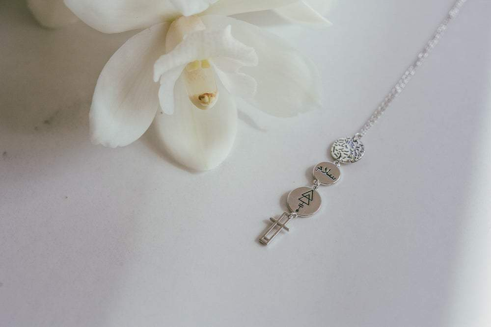 Peace Drop Necklace | Platinum by Lindi Kingi Design shop online now