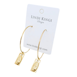 Saint Hoop Earrings | Gold by Lindi Kingi Design shop online now