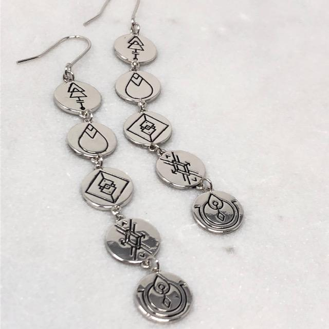 Earth Energies Earrings | Platinum by Lindi Kingi Design shop online now