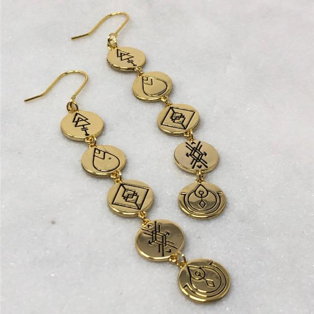 Earth Energies Earrings | Gold by Lindi Kingi Design shop online now