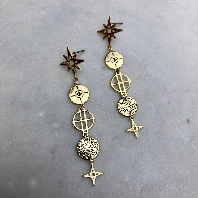 Star Drop Earrings | Gold by Lindi Kingi Design shop online now