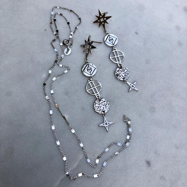 Star Drop Earrings | Platinum by Lindi Kingi Design shop online now