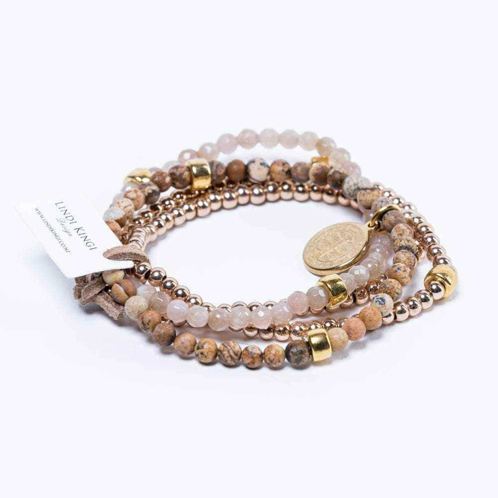 Cafe Au Lait Bracelet Set by Lindi Kingi Design shop online now