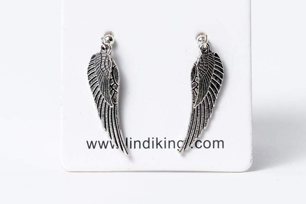 Angel Wing Charm Earrings | Silver by Lindi Kingi Design shop online now