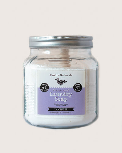 Tandi's Naturals Concentrated Tallow Laundry Soap Jar in Lavender