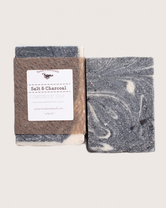 Tandi's Naturals Salt & Charcoal Complexion Bar Soap