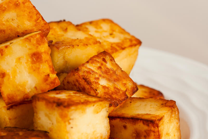 Fried Paneer Cubes