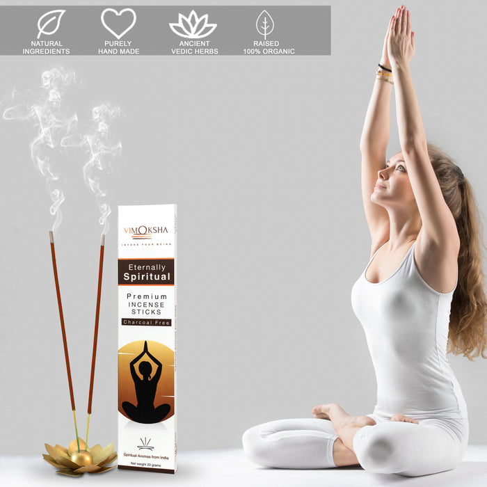 VIMOKSHA Luxury Premium Incense Sticks Made with Natural Ingredients 12 Most Popular Fragrances - Chemical Free - Set of 12
