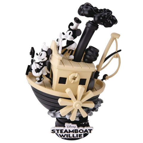 Diorama D-Stage Disney Steamboat Willie Mickey y Minnie