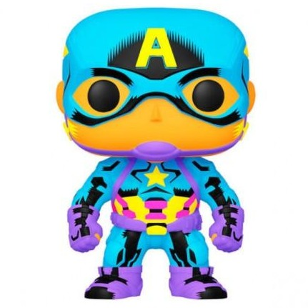 Funko Pop! Marvel Black Light Captain America (Special Edition)