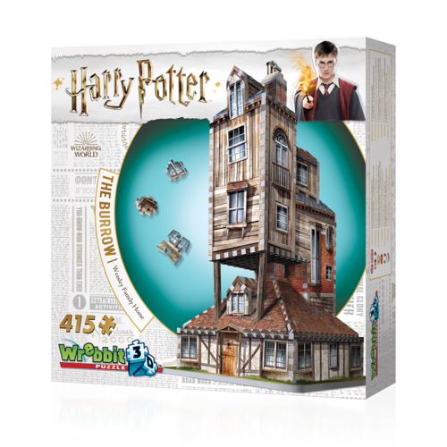Puzzle 3D Harry Potter La Madriguera (415 piezas)